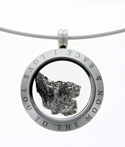 Iron Meteorite in a Locket: 'To the Moon and Back'