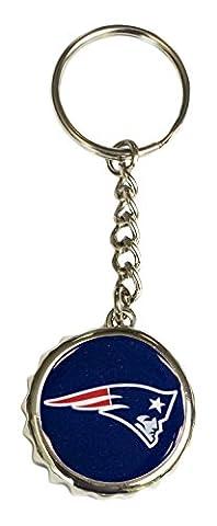 NFL New England Patriots Bottle Cap Keychain, Navy, One Size - Nfl Key Ring