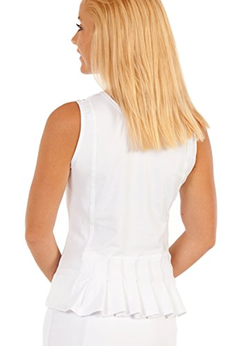 Power Pleated Tennis Skirt - Show No Love Women's Down the Line Power Play Pleated Tank in white (size M)