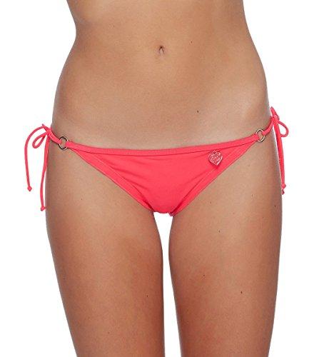 Body Glove Women's Smoothies Brasilia Tie Side Cheeky Bikini Bottom Swimsuit, Diva, - Tie Diva