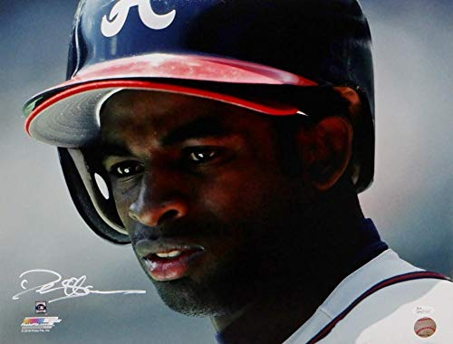 Deion Sanders Autographed Atlanta Braves 16x20 Pf Photo Close Up- JSA Authentic -