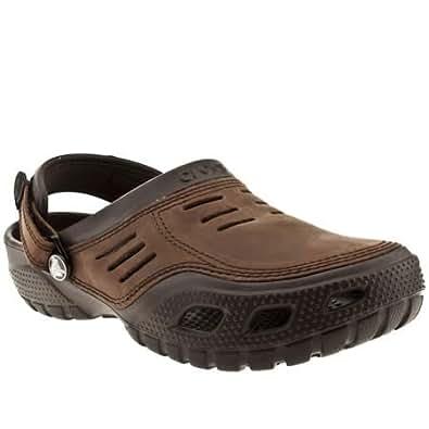 Crocs - Sandalias deportivas de cuero para hombre marrón marrón