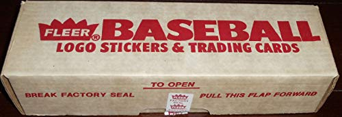 1989 Fleer MLB Baseball Factory Sealed Set with 660 Cards including Ken Griffey and Randy Johnson Rookie Cards and 45 Stickers -