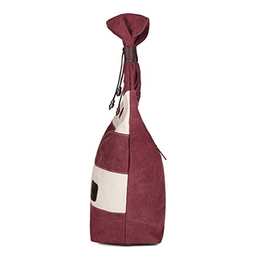Stripe Bag Handbag Shopping Ladies JOSEKO Purple Leisure Tote Women Bag Shoulder Hobo Canvas qwYZwP