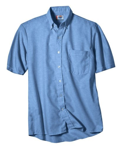 Dickies Occupational Workwear SS46BS 155 Polyester/Cotton Men's Button-Down Short Sleeve Oxford Shirt, 15-1/2