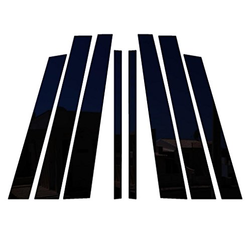 Ferreus Industries Piano Black Pillar Post Trim Cover fits: 1992-1997 Ford Crown Victoria All Models PIL-142-GB (Victoria Crown Pillar)