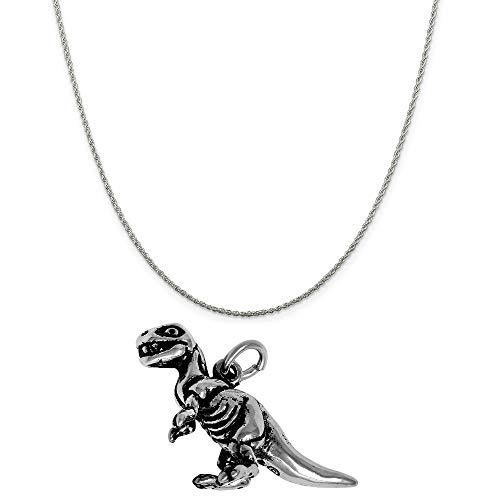 Raposa Elegance Sterling Silver 3D T-Rex Dinosaur Charm on a Sterling Silver 20