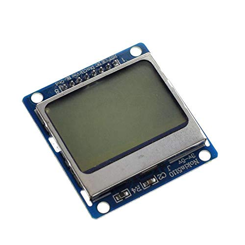TOOGOO Smart Electronics LCD Module Display Monitor Blue Backlight Adapter PCB 84x48 LCD for Nokia 5110 Screen for Arduino