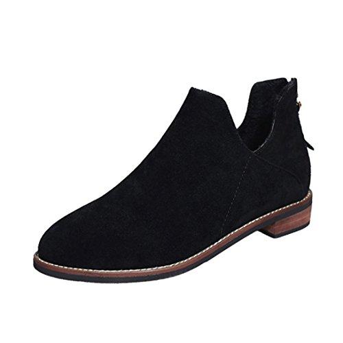 Chaud Solide Martin Femmes Suede Faux Cheville Chaussures Qinmm qrrzf68t