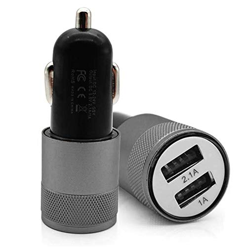 (UMFun5V 3.1A Mini Dual 2 Port USB Car Charger Adapter for Smart Mobile Cell Phone (gray))