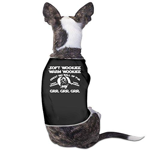[Soft Wookie Warm Wookie Graphic Dog Costumes 100% Polyester Fiber Costumes] (Wookie Costume For Dog)