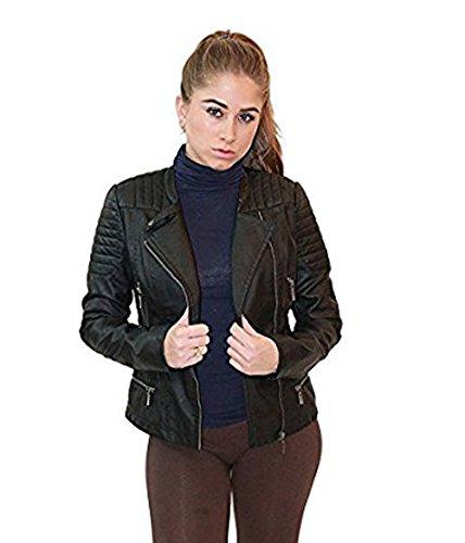 Ladies Leather Biker Jacket Sale - 8