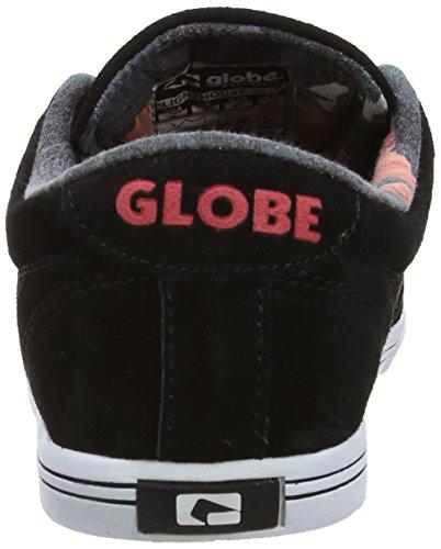 Globe Lighthouse Slim Brown Ash Sneaker Negro (black/hibiscus 20066)