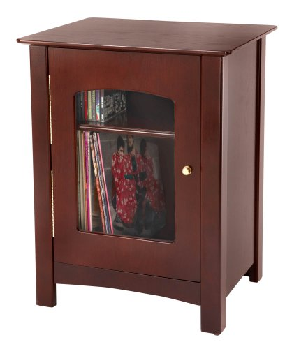 Crosley ST75-CH Bardstown Entertainment Cabinet, Cherry - Oak Turntable