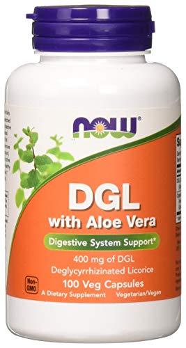 Now DGL with Aloe Vera, 100 Veg Capsules ()