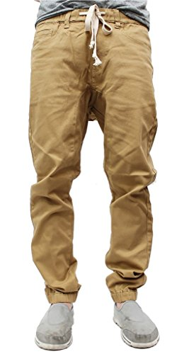 Victorious Mens Twill Jogger Pants (3XL, Wheat)