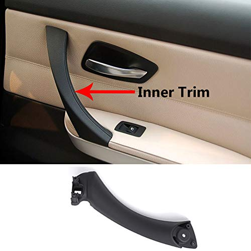 TTCR-II Door Handle Pull Inner Strap Compatible with BMW 3 Series E90 E91 Black Right Front/Rear Interior Passenger Side Door Handle Inner Bracket (Fits: 323 325 328 330 335 - Panel Passenger Door Rear