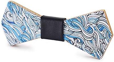 Neckchiefs Corbata de Lazo Impreso Traje de Corbata de Madera ...