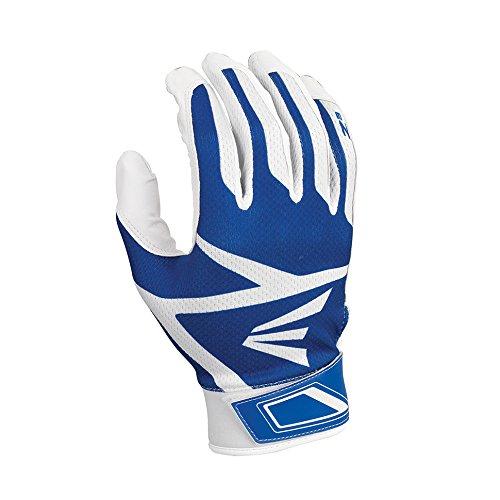(Easton Z3 Hyperskin Batting Gloves, White/Royal, Medium)