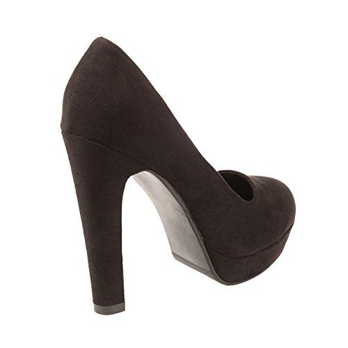 La Modeuse-Funda de imitación de piel, diseño de zapato de tacón de altura, color negro Negro - negro
