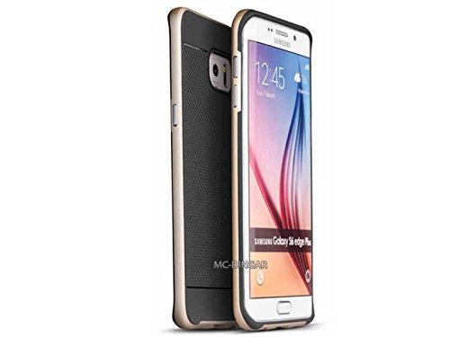 Price comparison product image Luxury Ultra Thin Slim Design Soft Hybrid PC Bumper Case Cover For Samsung Galaxy S6 EDGE PLUS (Black / Gold)