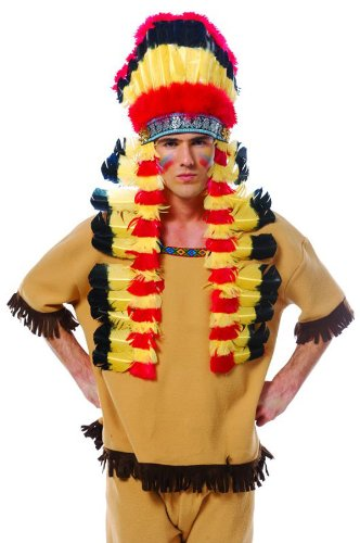 Francoamerican Novelty Company 32392FR Deluxe Indian Feather Headdress (Indian Chief Headdress For Sale)