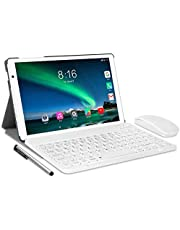 Tablet 10 inch Octa Core -TOSCIDO Android 10.0,1920x1200 HD IPS,4GB RAM,64GB ROM,13M & 5M Camera,5G Wi-Fi,Bluetooth 5.0,GPS,Type-C,Include Bluetooth Keyboard,Mouse,Tablet Case and More - Silver