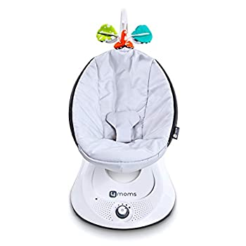 Image of 4moms rockaRoo - Compact Baby Swing, Baby Rocker with Front to Back Gliding Motion, Classic Nylon Fabric - from The Makers of The mamaRoo Baby