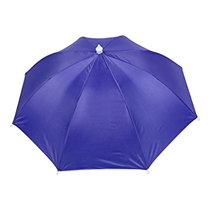eDealMax Manos libres Banda elástica paraguas Sombrero Headwear de deportes al aire Libre púrpura
