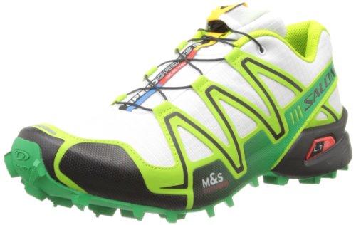 Salomon Men's Speedcross 3 Trail Running,White/Granny Green/Clover Green,12 M US