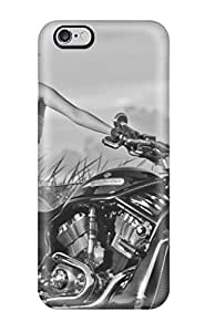 New Girls And Motorcycles Skin Case Cover Shatterproof Case For Iphone 6 Plus