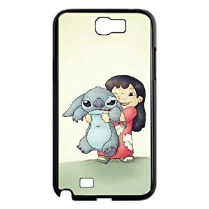 Samsung Galaxy N2 7100 Cell Phone Case Black Lilo and Stitch 2 Stich Has a Glitch Protective Durable Phone Case Cover CZOIEQWMXN23382