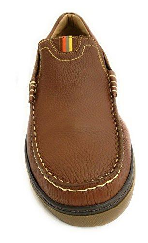 Zerimar Zapato Náutico de Piel Para Hombre Tallas Grandes Náutico Para Hombre Camel