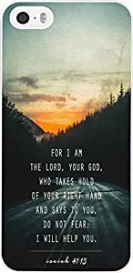 For I am the lord,your god who takes hold of your right hand and says to you, do not fear; I will help you / ISAIAH 41:13 christian bible verses quotes theme pattern print protector cover sleeve cases for iphone ipod touch4 5G Xiang's Case
