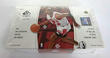 sports shoes e3734 00819 2003/04 Upper Deck SP Authentic Basketball Box (Hobby) at ...
