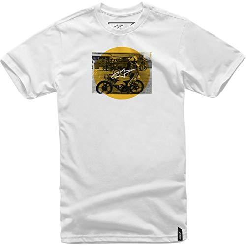 Weiß shirt T Task Thé Alpinestars SOZwqIF6