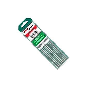 Weldcraft W.0126-W Pure Tungsteno para aplicaciones de soldadura AC, 1,