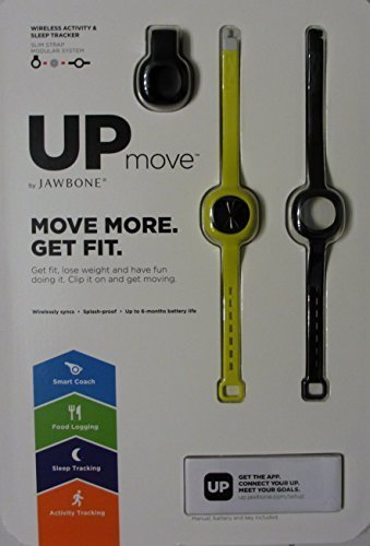 JAWBONE Up Move Activity Tracker, Onyx with Black Clip and Two Extra Straps by Jawbone