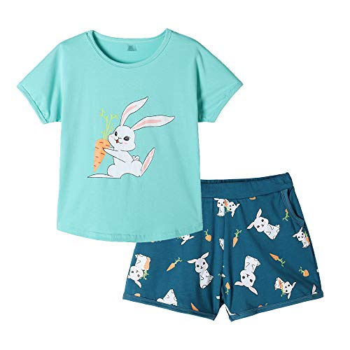 MyFav Pajama Set Big Girls Comfy PJS Lovely Heart Shape Printed Sleepwear Nighty