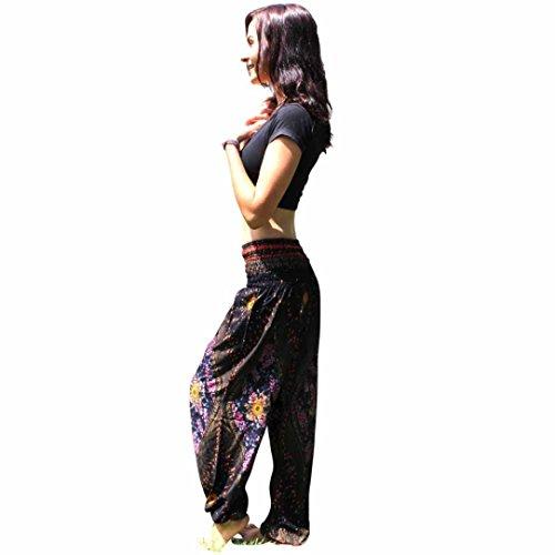 3081d4f6e44b BeautyTop Donna Uomo Yoga Pantaloni Pants Harem tailandese Sportivi  leggings Sport Running yoga Pantaloni da atletica Pantalone (Blu, taglia  unica): ...