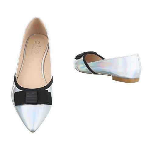 Donna Argento chiuse Design Ital Scarpe ntS6gq0wO