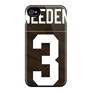 Iphone 4/4s NIU18725DCIR Support Personal Customs Colorful Cleveland Browns Pattern Protective Hard Cell-phone Cases -PhilHolmes