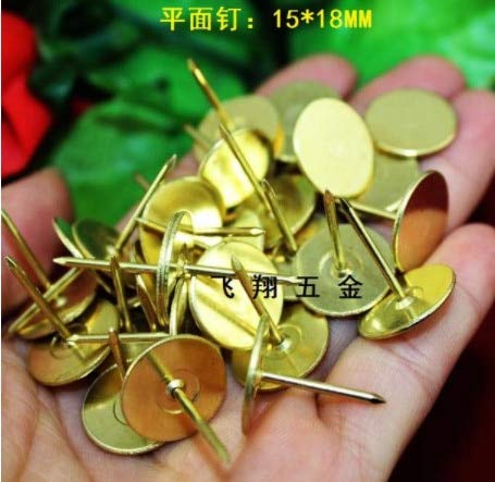 Ochoos 100PCS Antique 1519MM Flat Fasteners Upholstery Nails Furniture Tacks Pushpins Hardware Decor Tack by Ochoos