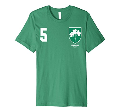 Mens Ireland Rugby Jersey Tshirt Small Kelly (Jersey Slim Rugby)
