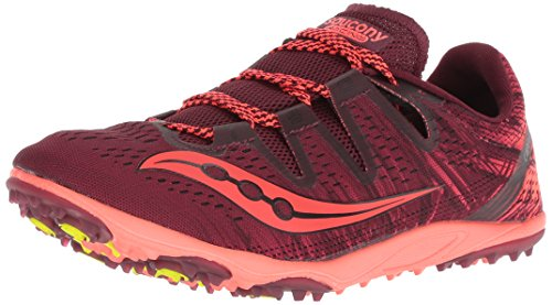 Saucony Women's Carrera XC 3 Flat Track Shoe, Berry/Vizi Red, 7.5 M...