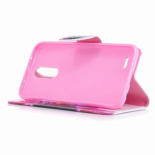 Yiizy LG K10 (2017) / LG X400 / LG M250N Custodia Cover, Petalo Design Sottile Flip Portafoglio PU Pelle Cuoio Copertura Shell Case Slot Schede Cavalletto Stile Libro Bumper Protettivo Borsa