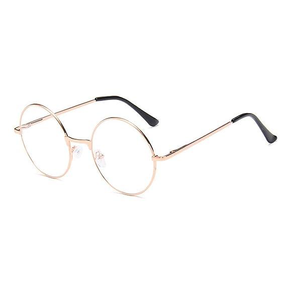 7549a865f5 Gafas metal Montura Marco Lente Claro retro Anteojos para Unisex Hombre y  Mujer: Amazon.es: Ropa y accesorios