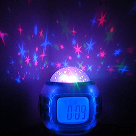 BO-Reloj de noche luminoso estudiante mini moda de música/Reloj ...