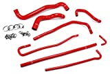 HPS 57-1316-RED Red Silicone Radiator Coolant/Heater Hose Kit