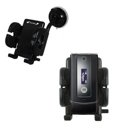 Windshield Vehicle Mount Cradle suitable for the Motorola W385 - Flexible Gooseneck Holder with Suction Cup for Car / ()